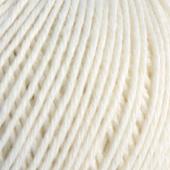 B C Garn Selba 50% ekologisk ull och 50% ekologisk bomull vit nr 03