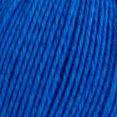 B C Garn Selba 50% ekologisk ull och 50% ekologisk bomull nr 06 blå
