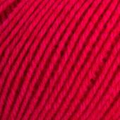 B C Garn Selba 50% ekologisk ull och 50% ekologisk bomull nr 17 röd