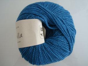 B C Garn Semilla nr 121 100% ekologisk ull petrol-blå