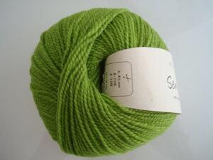 B C Garn Semilla nr 112 100% ekologisk ull gräsgrön