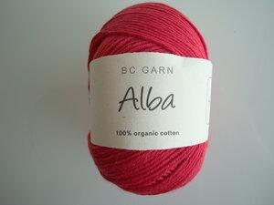 B C Garn Alba 100% ekologisk bomull röd nr 05