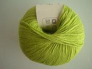 B C Garn Alba 100% ekologisk bomull ljusgrön nr 09