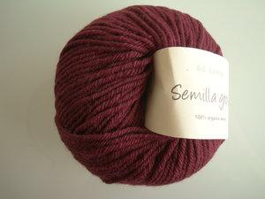 B C Garn Semilla grosso nr 125 100% ekologisk ull vinröd