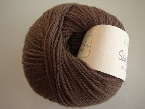 B C Garn Semilla nr 113 100% ekologisk ull brun