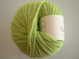 B C Garn Semilla nr 132 100% ekologisk ull ljusgrön