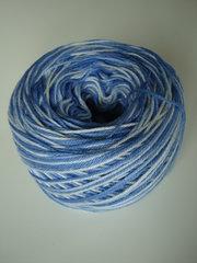 eko-bomull blå nyanser och vit nr 4