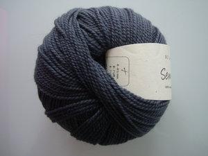 B C Garn Semilla nr 102 100% ekologisk ull mörkgrå