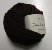 B C Garn Semilla grosso nr 113 100% ekologisk ull brun