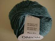 Onion Organic Wool + Nettles 70% ekologisk ull & 30% nässlor petrol nr 608