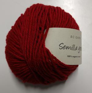 B C Garn Semilla grosso nr 116 100% ekologisk ull tegelröd