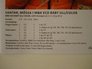 mönster Marks & Kattens nr 14057