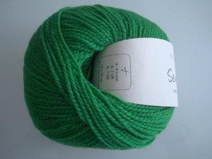B C Garn Semilla nr 135 100% ekologisk ull klargrön
