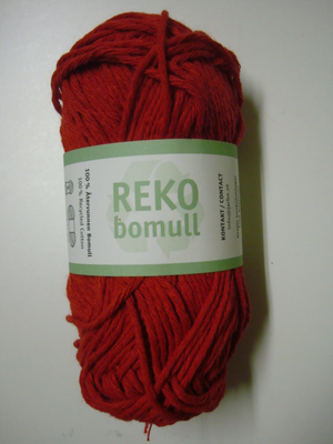 Järbo garn 100% återvunnen bomull rokokoröd nr 95
