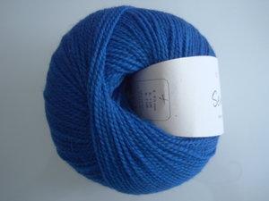 B C Garn Semilla nr 137 100% ekologisk ull klarblå