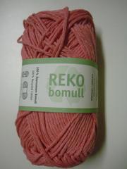 Järbo garn 100% återvunnen bomull bubbelgumsrosa nr 61