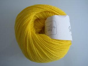 B C Garn Semilla nr 134 100% ekologisk ull gul