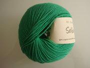 B C Garn Selba 50% ekologisk ull och 50% ekologisk bomull grön nr 14
