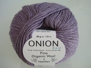 Onion no 4 FINO Organic Wool + Nettles 70% ekologisk ull & 30% nässlor ljuslila nr 807