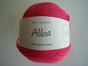 B C Garn Alba 100% ekologisk bomull cerise nr 20
