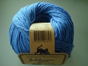 Marks & Kattens Jubileumsgarn 100% organisk bomull blå nr 105