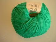 B C Garn Alba 100% ekologisk bomull grön nr 19