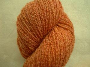 B C Garn Bio Shetland nr 37 100% ekologisk ull orange