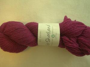 B C Garn Bio Shetland nr 27 100% ekologisk ull cyklamen