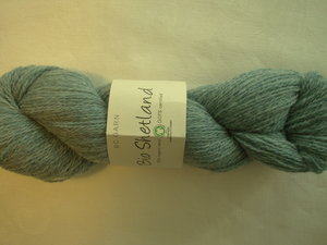B C Garn Bio Shetland nr 16 100% ekologisk ull turkos