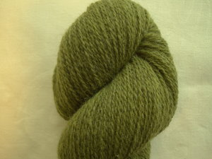 B C Garn Bio Shetland nr 09 100% ekologisk ull grön