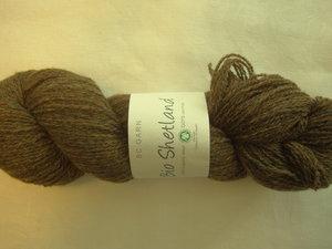 B C Garn Bio Shetland nr 06 100% ekologisk ull mörkbrun