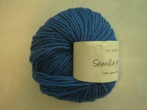 B C Garn Semilla grosso nr 137 100% ekologisk ull klarblå