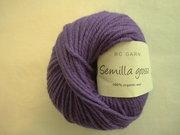 B C Garn Semilla grosso nr 118 100% ekologisk ull lila
