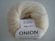 Onion Organic Wool + Nettles 70% ekologisk ull & 30% nässlor vit nr 609