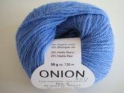 Onion no 4 FINO Organic Wool + Nettles 70% ekologisk ull & 30% nässlor havsblå nr 824