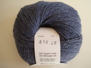 Onion no 4 FINO Organic Wool + Nettles 70% ekologisk ull & 30% nässlor mörkblå nr 810