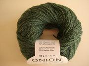 Onion no 4 FINO Organic Wool + Nettles 70% ekologisk ull & 30% nässlor grön nr 806