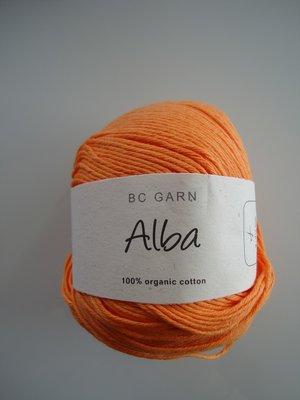 B C Garn Alba 100% ekologisk bomull orange nr 17