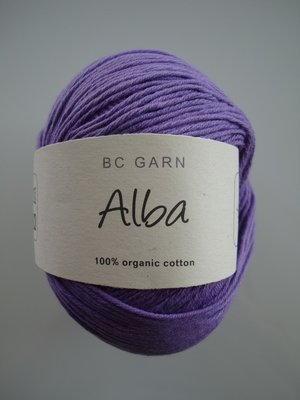 B C Garn Alba 100% ekologisk bomull ljuslila nr 21