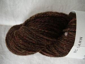B C Garn Semilla Melange nr 13 100% ekologisk ull brun