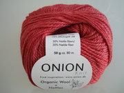 Onion Organic Wool + Nettles 70% ekologisk ull & 30% nässlor ljusröd nr 613