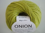 Onion Organic Wool + Nettles 70% ekologisk ull & 30% nässlor lime nr 624