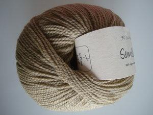 B C Garn Semilla nr 127 100% ekologisk ull beige