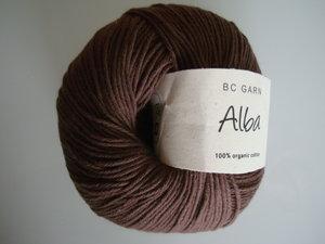 B C Garn Alba 100% ekologisk bomull brun nr 29