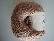 B C Garn Alba 100% ekologisk bomull beige nr 30