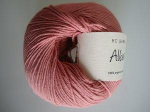 B C Garn Alba 100% ekologisk bomull mörk gammelrosa nr 31