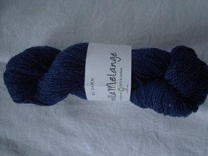 B C Garn Semilla Melange nr 11 100% ekologisk ull mörkblå