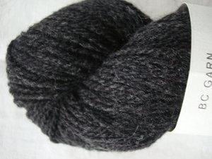 B C Garn Semilla Melange nr 04 100% ekologisk ull mörkgrå