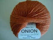 Onion no 4 FINO Organic Wool + Nettles 70% ekologisk ull & 30% nässlor orange nr 815