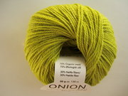 Onion no 4 FINO Organic Wool + Nettles 70% ekologisk ull & 30% nässlor lime nr 816